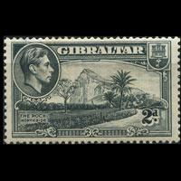 GIBRALTAR 1941 - Scott# 110d Rock Wmk S/way 2p NH