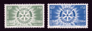 LEBANON LIBAN SCOTT #C198-C199 ROTARY INTERNATIONAL 1955 MNH-OG