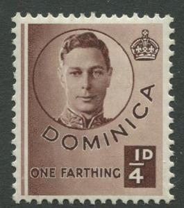 DOMINICA -Scott 111 - KGVI - Definitive -1940 - MH - Single 1/4p Stamp