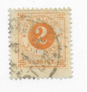 Sweden #40a Used - Stamp CAT VALUE $22.50