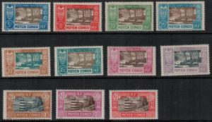 Middle Congo 1930 SC J12-J22 Set LH CV $71.50