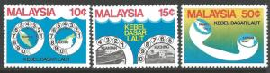 MALAYSIA SG212/4 1980 SUBMARINE CABLE PROJECT MNH