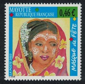 Mayotte Festival Masks 2003 MNH SG#179
