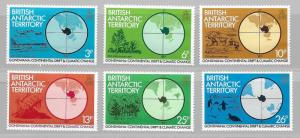 British Antarctic Territory 86-91 Climatic Change set NH