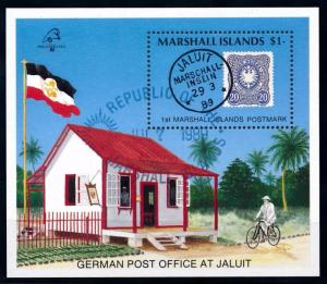 [68372] Marshall Islands 1989 German Post Office Bicycle Sheet Used CTO