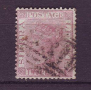 J21934 Jlstamps 1883-93 sierra leone used #25 queen wmk 2