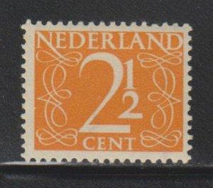 Netherlands,  2 1/2c Numeral (SC# 284) MNH