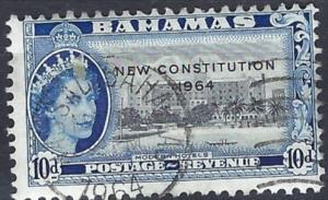 BAHAMAS  1964   SG237     10d  Black and blue     used