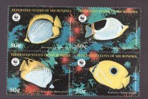 Sc# 274 - Micronesia - 1997 - WWF - Tropical Fish Set - MNH - superfleas