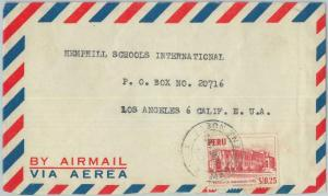 81692 - PERU - POSTAL HISTORY - Registered AIRMAIL  COVER to USA   1951