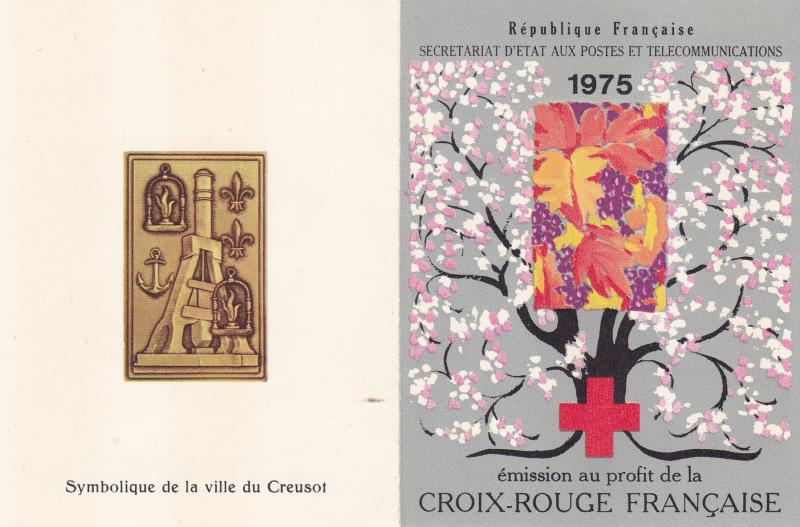 France 1975 Red Cross Semi-Postal Booklet.Spring & Fall.Complete  Pristine XF/NH