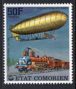 Comoro Islands 249 Train Zeppelin MNH VF