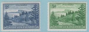 Norfolk Island 23 - 24 Postfrisch mit Scharnier Og - keine Fehler Sehr Fein