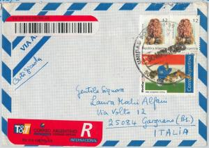 59817 - ARGENTINA - POSTAL HISTORY: REGISTERED COVER  1995 -  MUSHROOMS Football