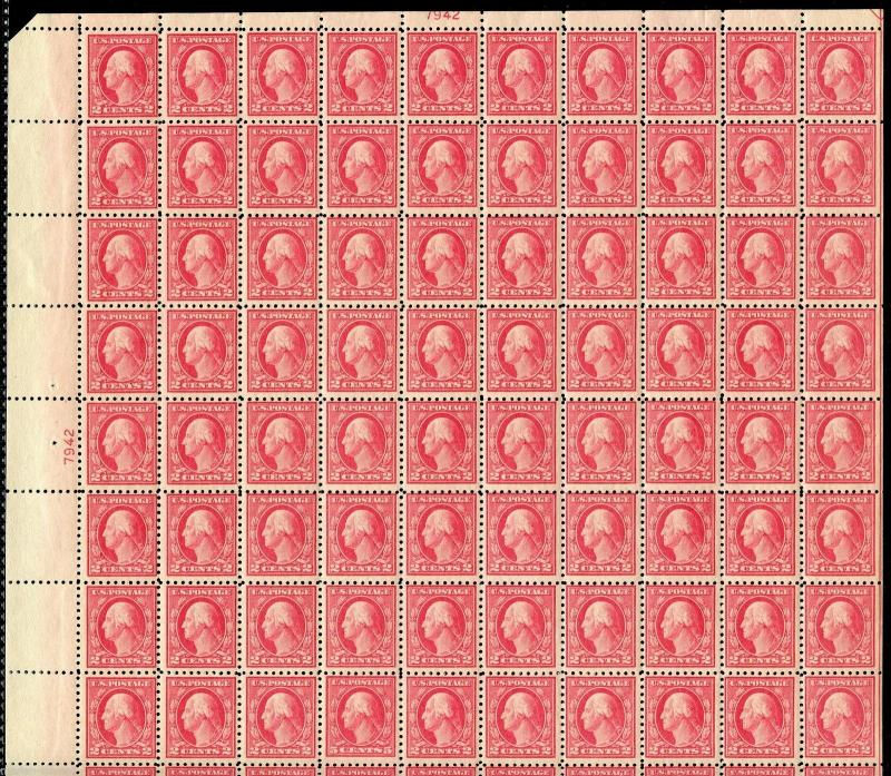 UNITED STATES WASHINGTON SCOTT#467 DOUBLE 5c ERROR SHEET   MINT NH