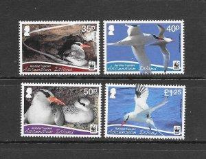 BIRDS - ASCENSION #1034-7  WWF   MNH