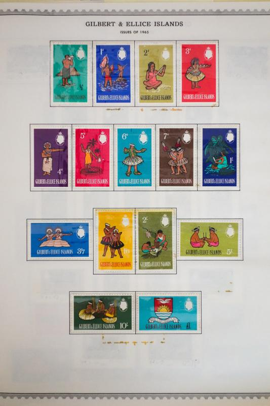Gilbert & Ellice Rather Complete 1960 - 1970's Stamp Collection