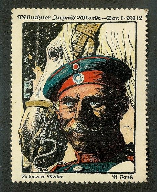 Germany SCHWERER REITER (Cavalry) Military Poster Stamp