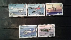 Jersey MNH 208-12 Airplanes 1979