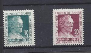 Germany Wurttemberg 8NB7-8, Gustav Werner Singles,**MNH**