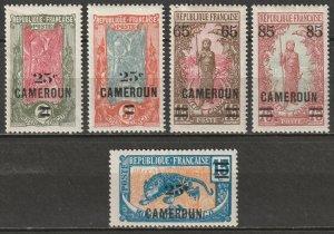 Cameroun 1924 Sc 164-8 Yt 101-5 set MH*