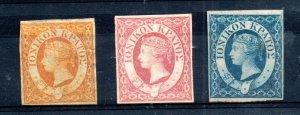 Ionian Islands 1859 mint (NG) set SG1-3 WS15501