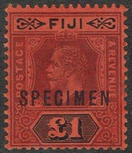 FIJI 1912 KGV 1 POUND SPECIMEN DIE I
