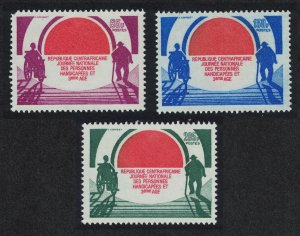 Central African Rep. National Day of the Disabled and Old 3v SG#978-980