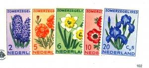 NETHERLANDS #B238-42 MINT FVF OG NH Cat $26