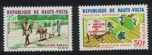 Upper Volta Donkey Rural Education 2v 1966 MNH SG#201-202