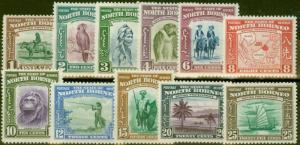 North Borneo 1939 set of 11 to 25c SG303-313 V.F Very Lightly Mtd Mint CV £278