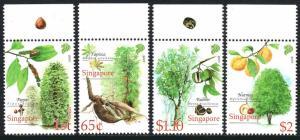 Singapore 1347-1350, MNH. Cash Crops. Pepper,Tapioca,Rubber,Nutmeg, 2008