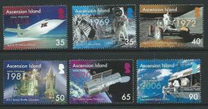 ASCENSION SG1004/9 2008 50th ANNIV OF NASA MNH