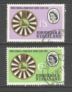 RHODESIA Sc# 189 - 190 USED FVF Set2 Round Table Emblem