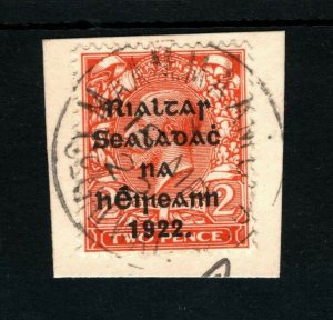 IRELAND 1922 Free State Overprints EIRE *Maam Cross* CDS Co Galway Piece MA332