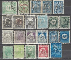 COLLECTION LOT # 3839 ROMANIA 22 STAMPS CLEARANCE 1900+ CV+$10