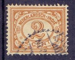 Netherlands Indies 1912  used 103   numbers  2 ct brown  #