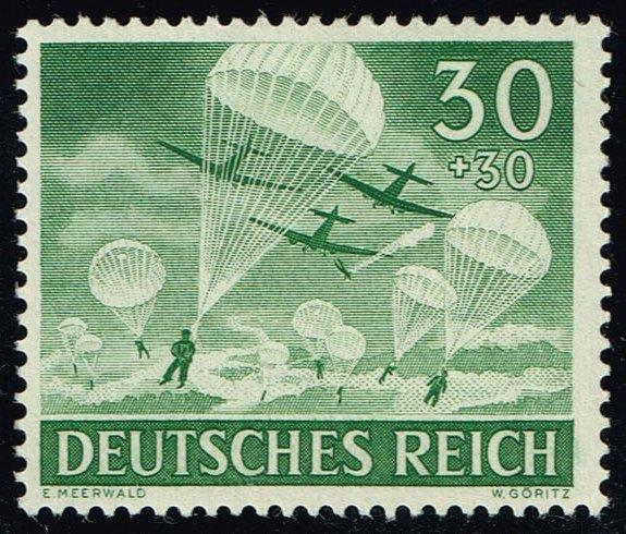 Germany #B227 Paratroops; Unused (0.55)
