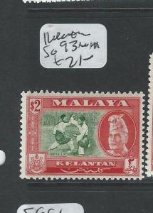 MALAYA KELANTAN (P1008B) $2.00  SG93  MNH