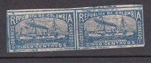 J28597, 1903-4 colombia pair mh #209 ship