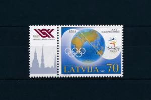 [54791] Latvia 2000 Olympic games Sydney with label MNH