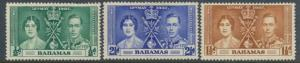 Bahamas SG 146-148  SC# 97-99 MH  Coronation  see details