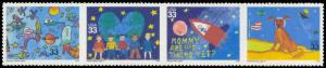 3414-3417 33c Children's Designs MNH Sht/20 P11111 Sht3290