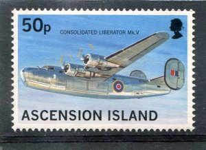 Ascension Island AIRCRAFT AMERICAN HEAVY BOMBER 1 value Perforated Mint (NH)