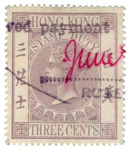(I.B) Hong Kong Revenue : Stamp Duty 3c