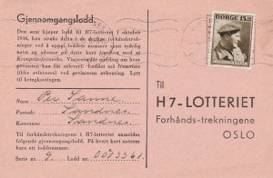 Norway 1946 Sandnes Cancels Stamp Pink Card to Oslo Ref 45656