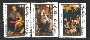Central African Republic. 1985. 1177-79. Christmas. USED.