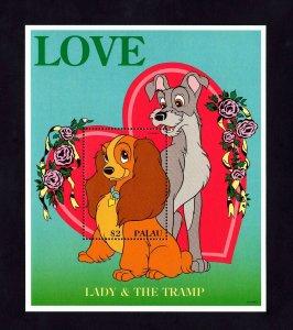 PALAU - 1996 - DISNEY - SWEETHEARTS - LADY & THE TRAMP - MINT - MNH S/SHEET!