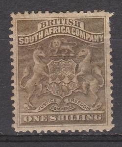 RHODESIA 1892 ARMS 1/-