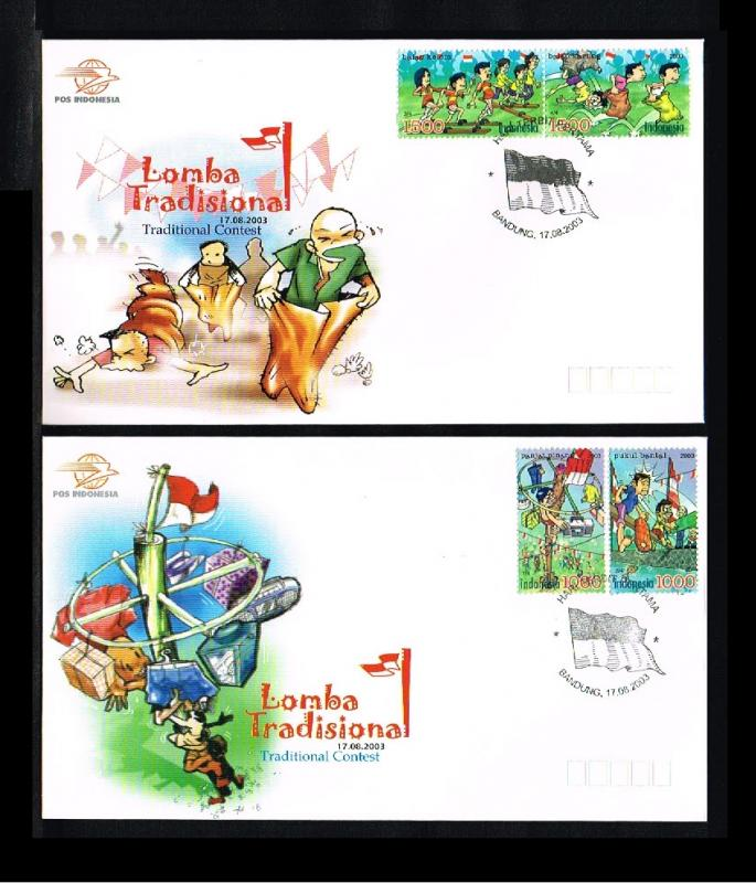 2003 - Indonesia FDC 08/03 - Sport - Traditional Contest [PB8_154]